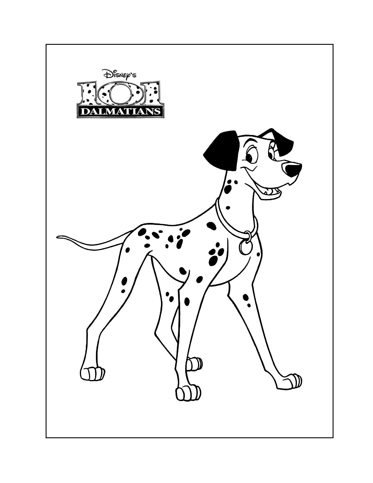 Pongo Dalmation Coloring Page