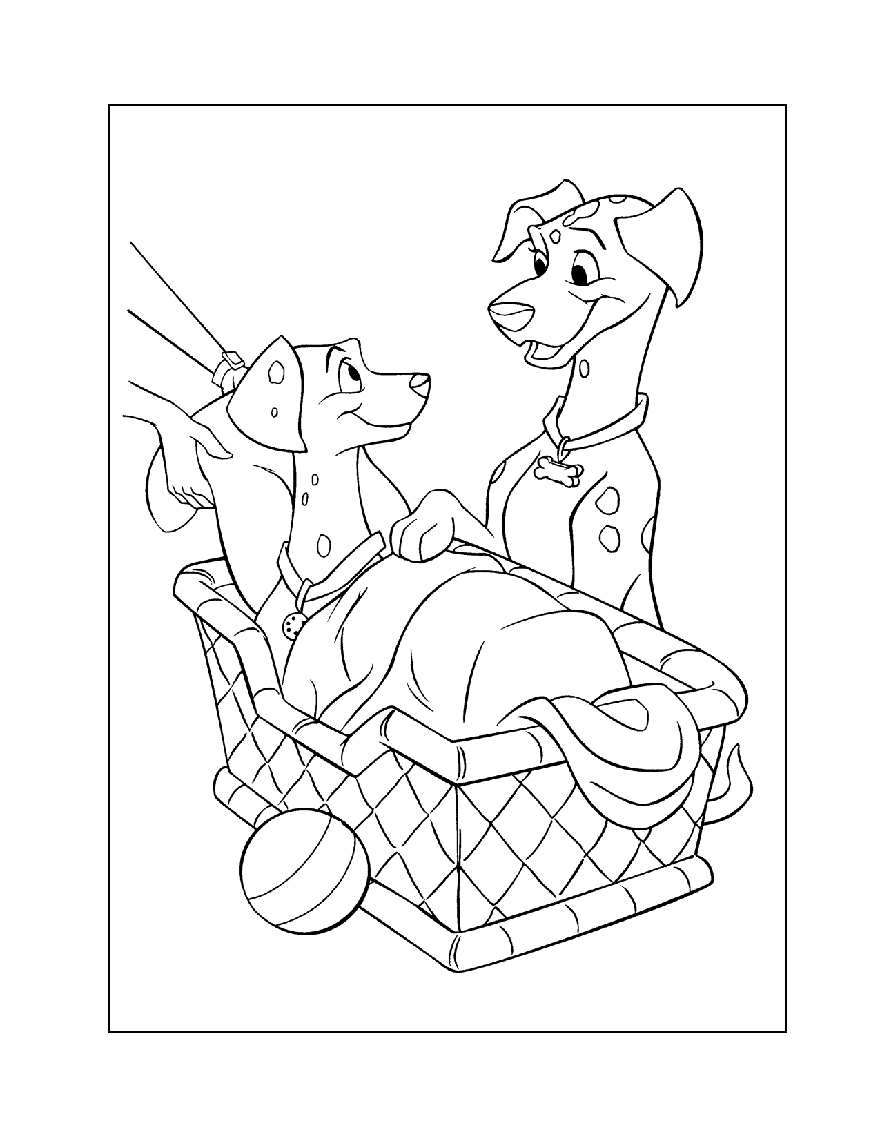 Pongo And Perdy Coloring Page