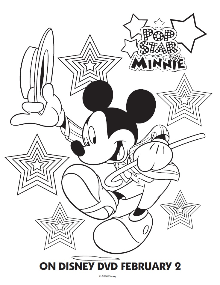 Popstar Minnie Coloring Poster