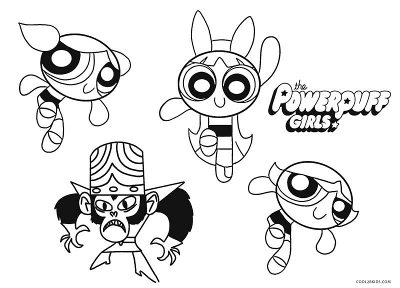 Powerpuff Girls Character Coloring Pages