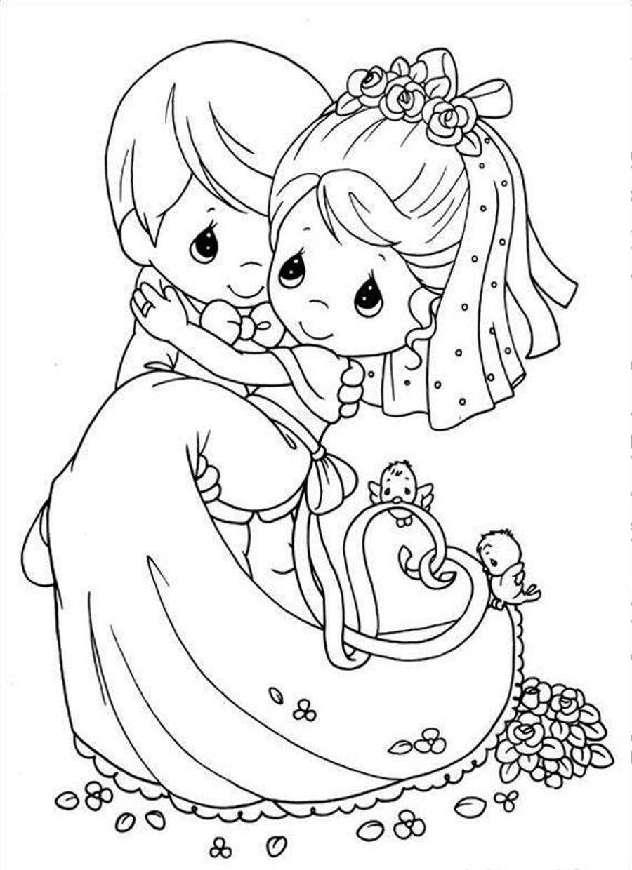 Precious Wedding Coloring Pages