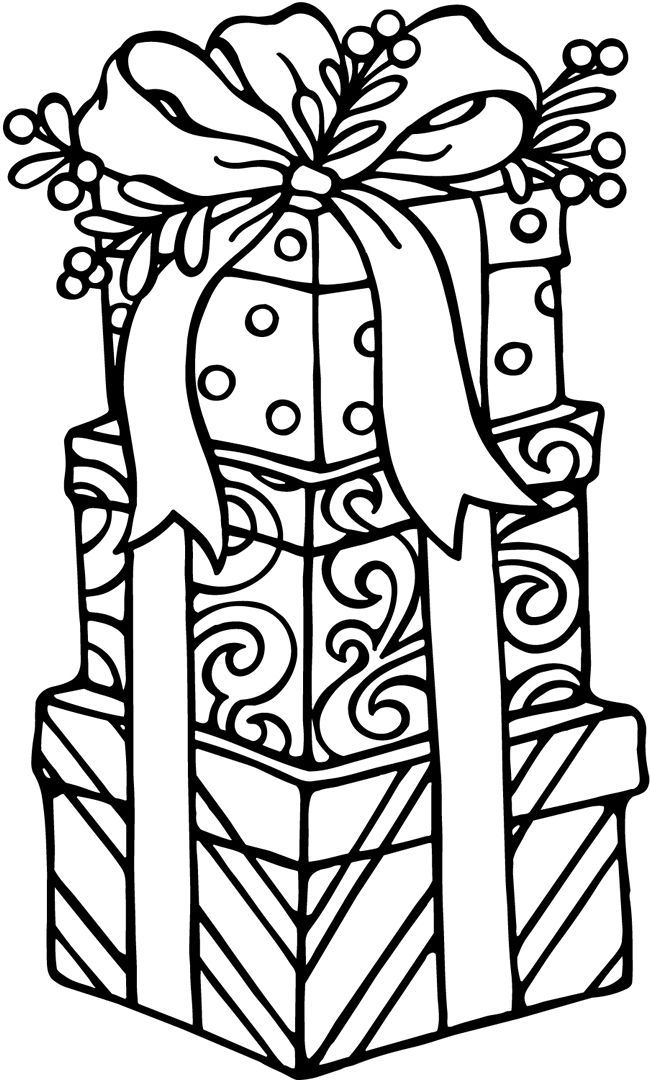 Presents - Christmas Coloring Pages