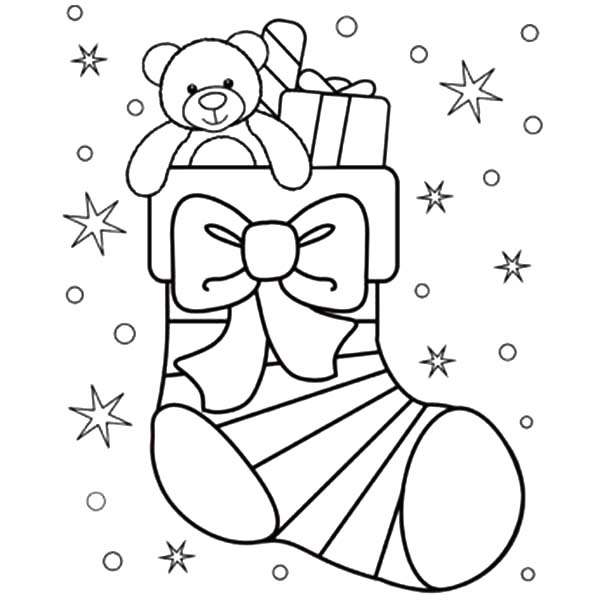 Christmas Stocking Coloring Pages - coloring.rocks!