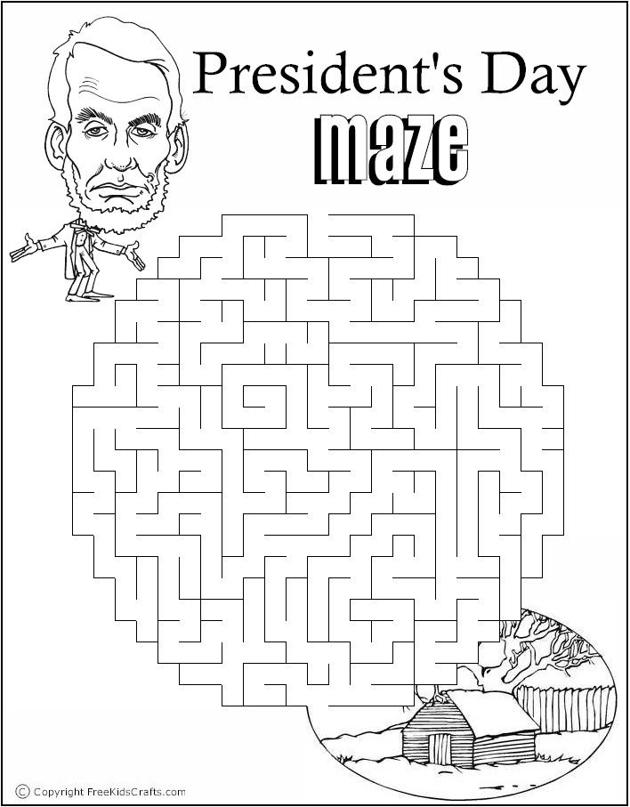 Presidents Day Maze