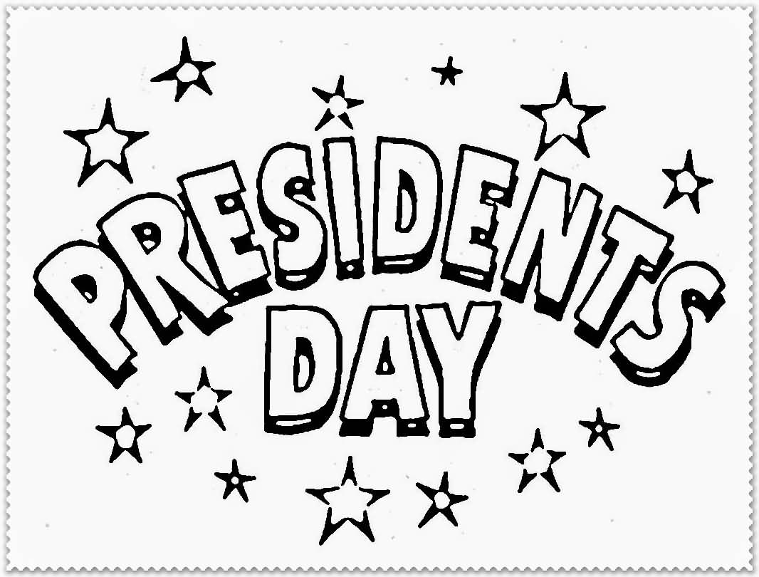 Presidents Day Sign to Color
