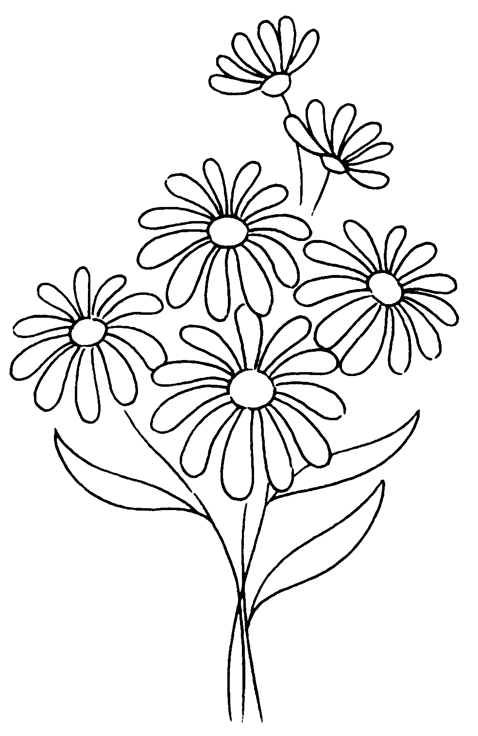 Pretty Daisy Flower Coloring Pages