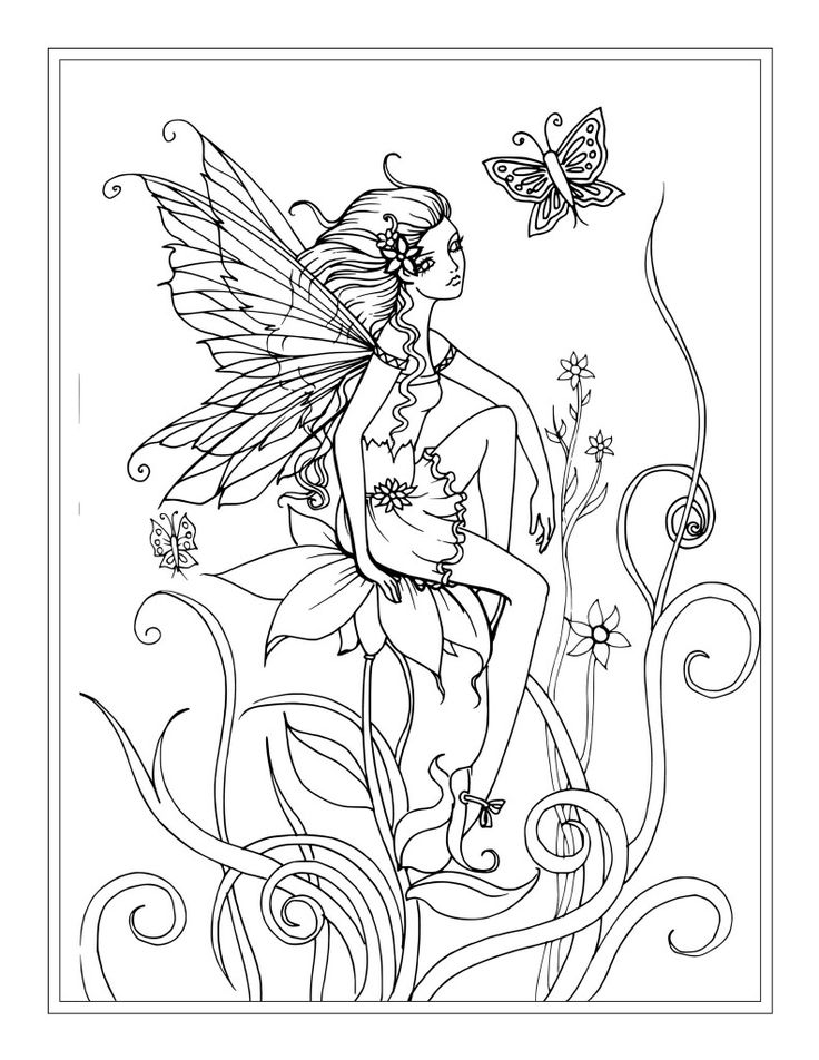 Fairy Coloring Pages – coloring.rocks!