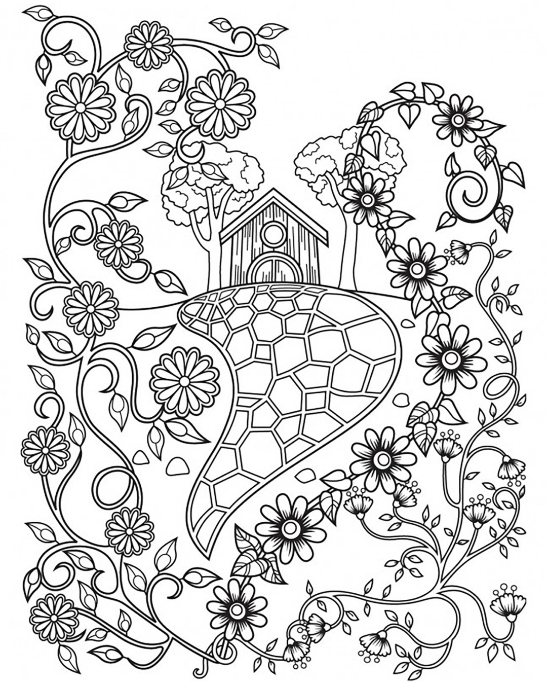 House Coloring Pages Rocks
