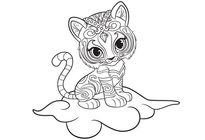 Pretty Nahal Shimmer and Shine Coloring Pages