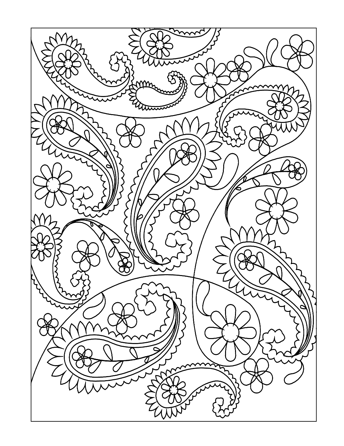 Pretty Paisley Coloring Pages