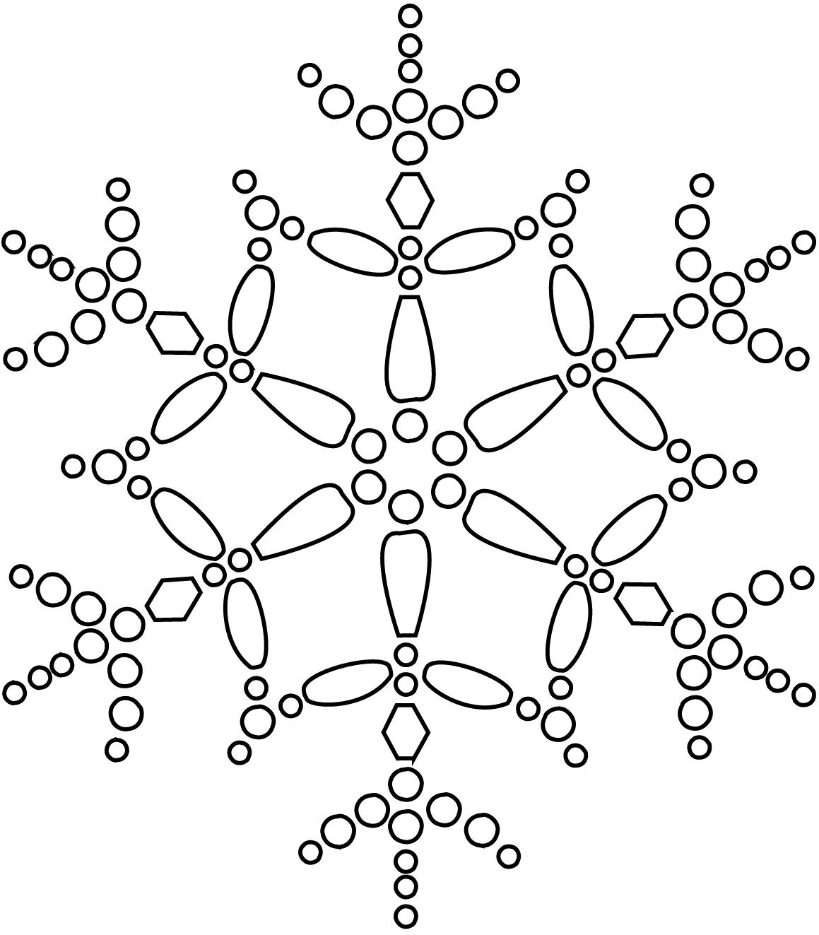 Pretty Snowflake Coloring Page