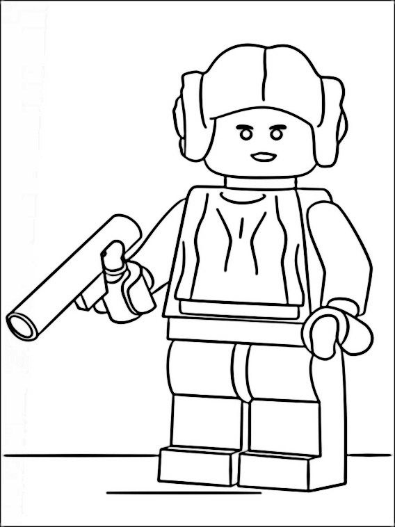 Princess Leia Lego Star Wars Coloring Pages