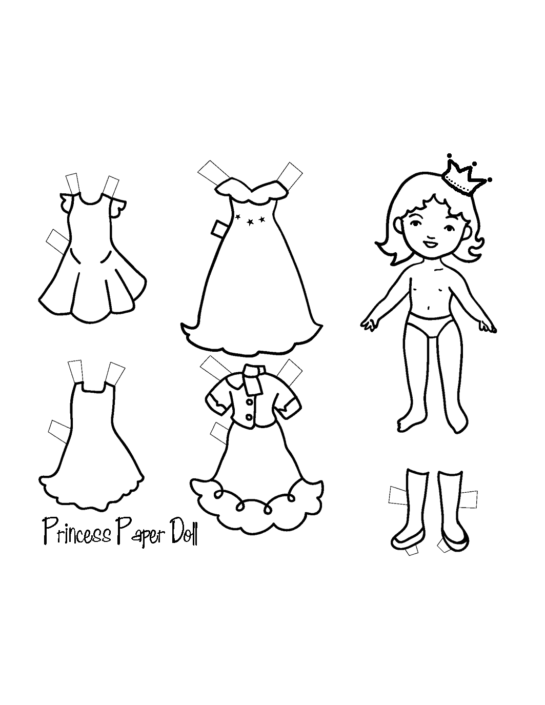 Princess Paper Doll Template