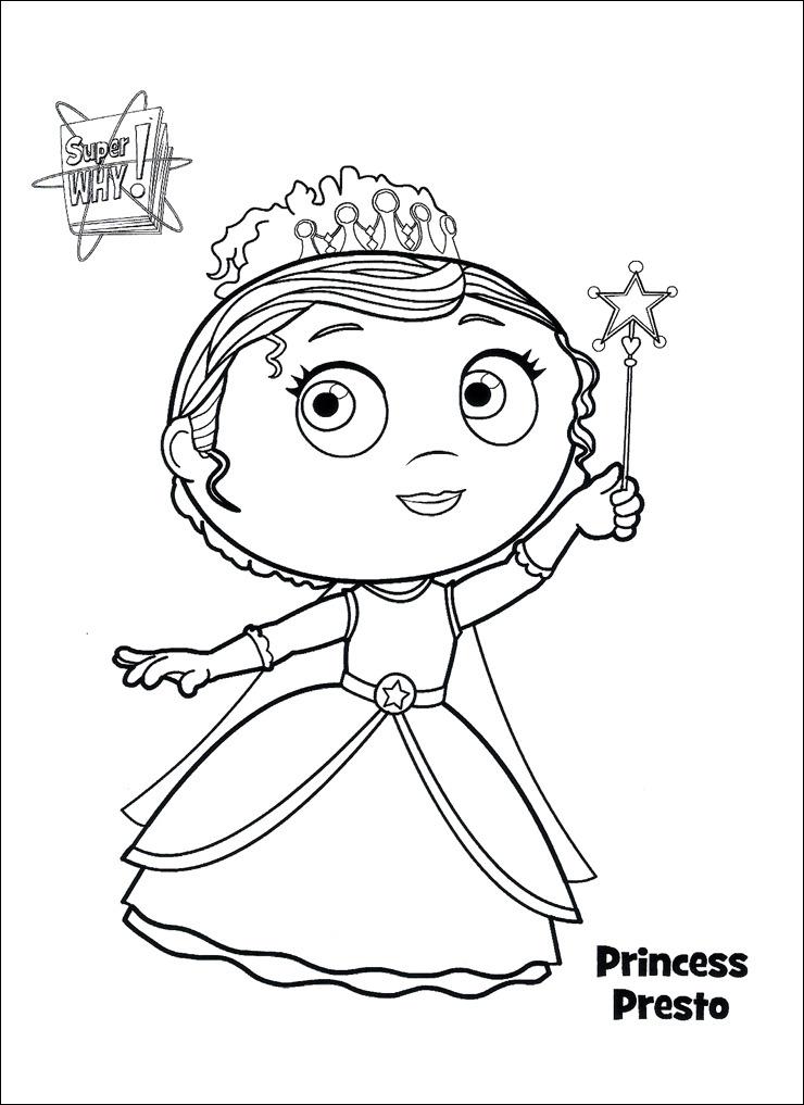 Princess Presto Coloring Pages