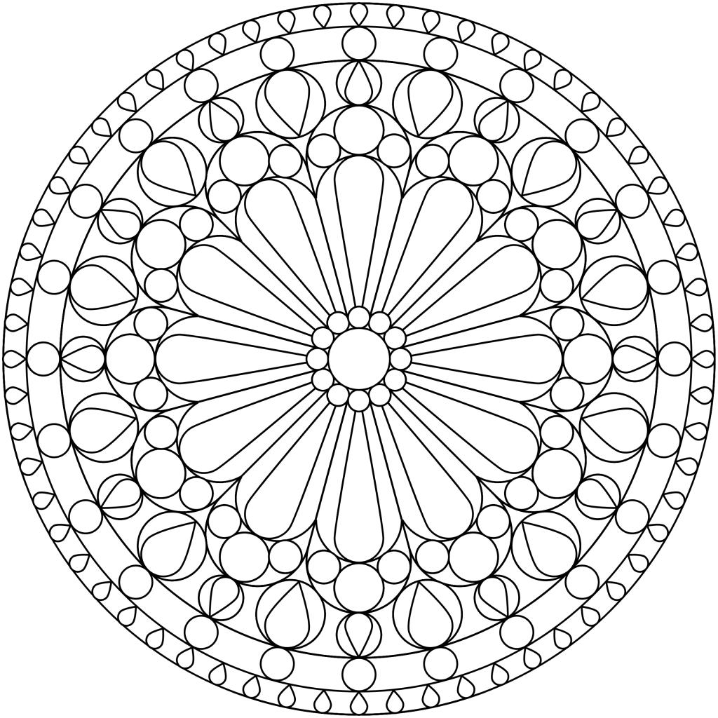 Print Easy Mandala Coloring Page