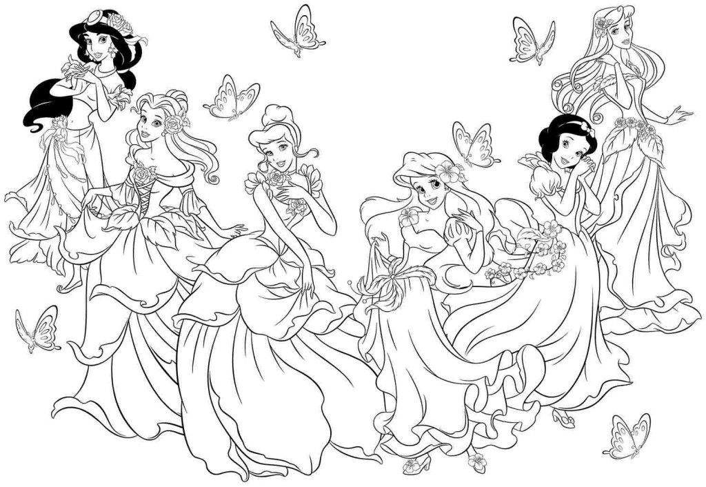 Print Free Disney Princess Coloring Pages
