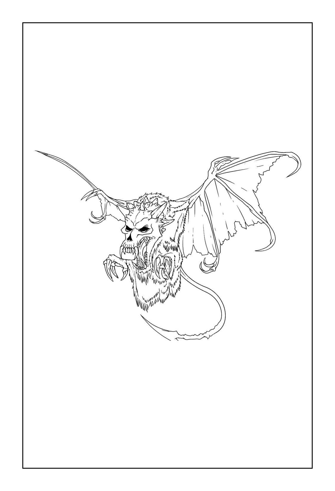 Print Free Dragon Coloring Pages
