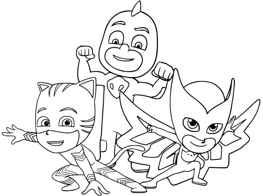 Pj Masks Coloring Pages Coloring Rocks