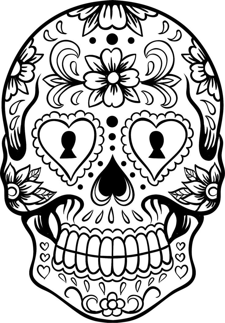 Print Sugar Skull Coloring Page