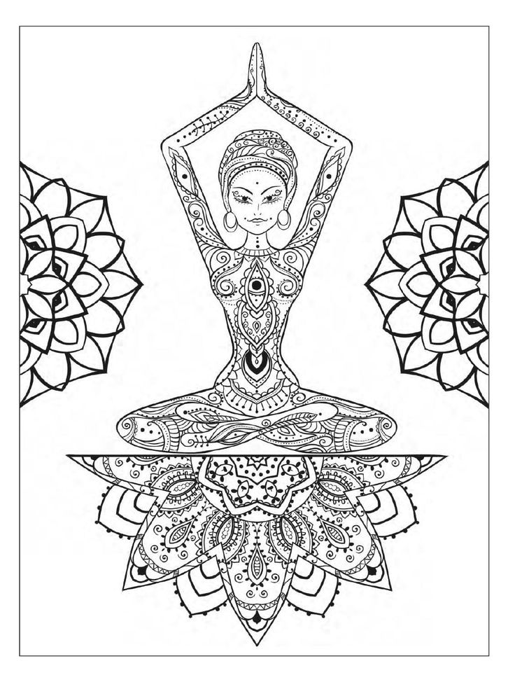 Yoga Coloring Pages Coloring Rocks