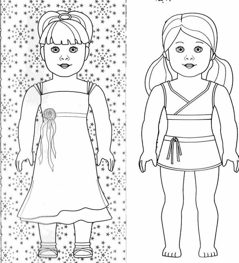 American Girl Coloring Pages - Best Coloring Pages For Kids | 864x785