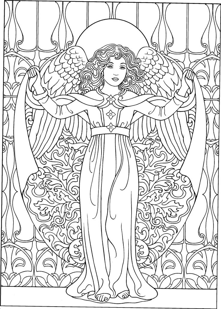 Printable Angel Coloring Pages for Adults