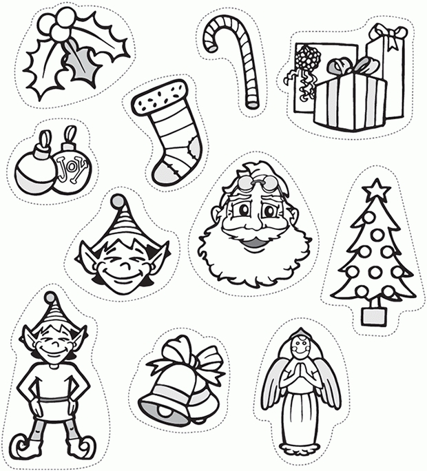 It's just an image of Printable Christmas Decorations Cutouts pertaining to easy