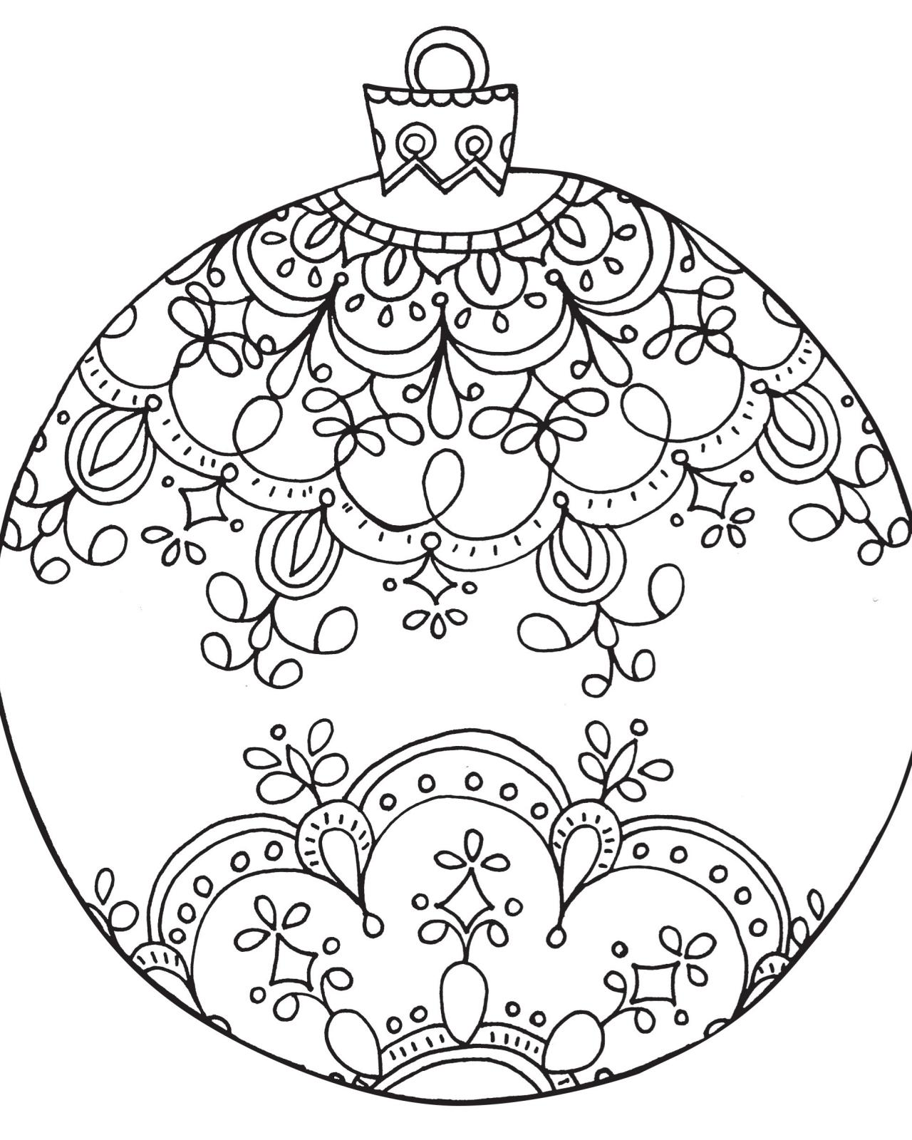 - Christmas Ornaments Coloring Pages – Coloring.rocks!