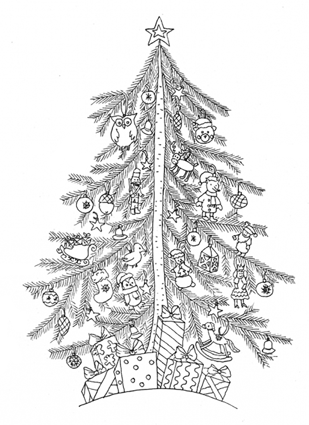 graphic relating to Printable Christmas Trees titled Xmas Tree Coloring Internet pages coloring.rocks!