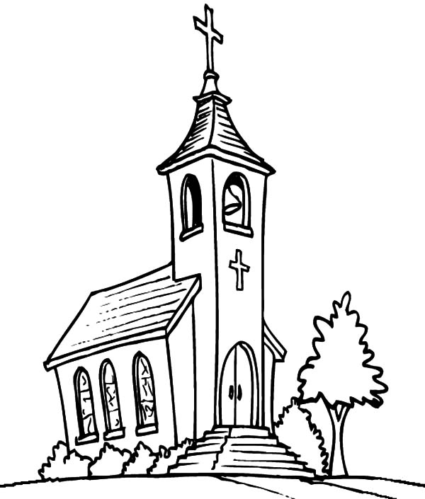 Printable Church Coloring Pages