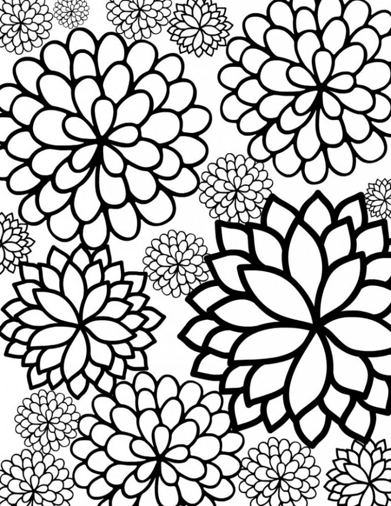 - Flower Coloring Pages – Coloring.rocks!