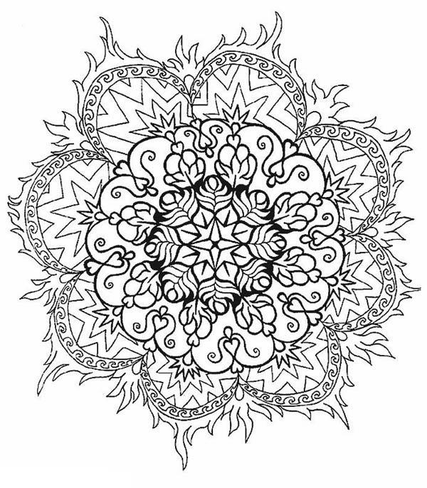 Printable Flower Mandala Coloring Pages