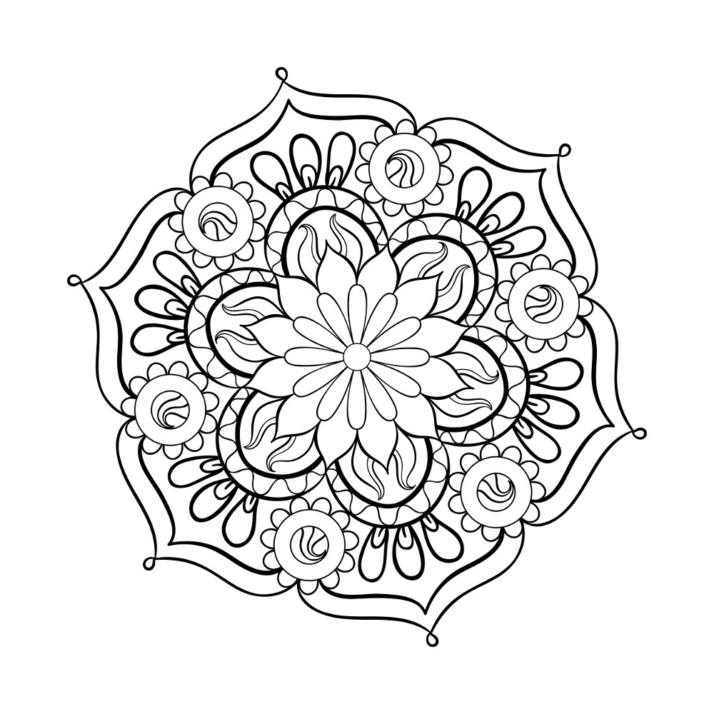 This is a graphic of Printable Flowers Pattern for cute floral pattern