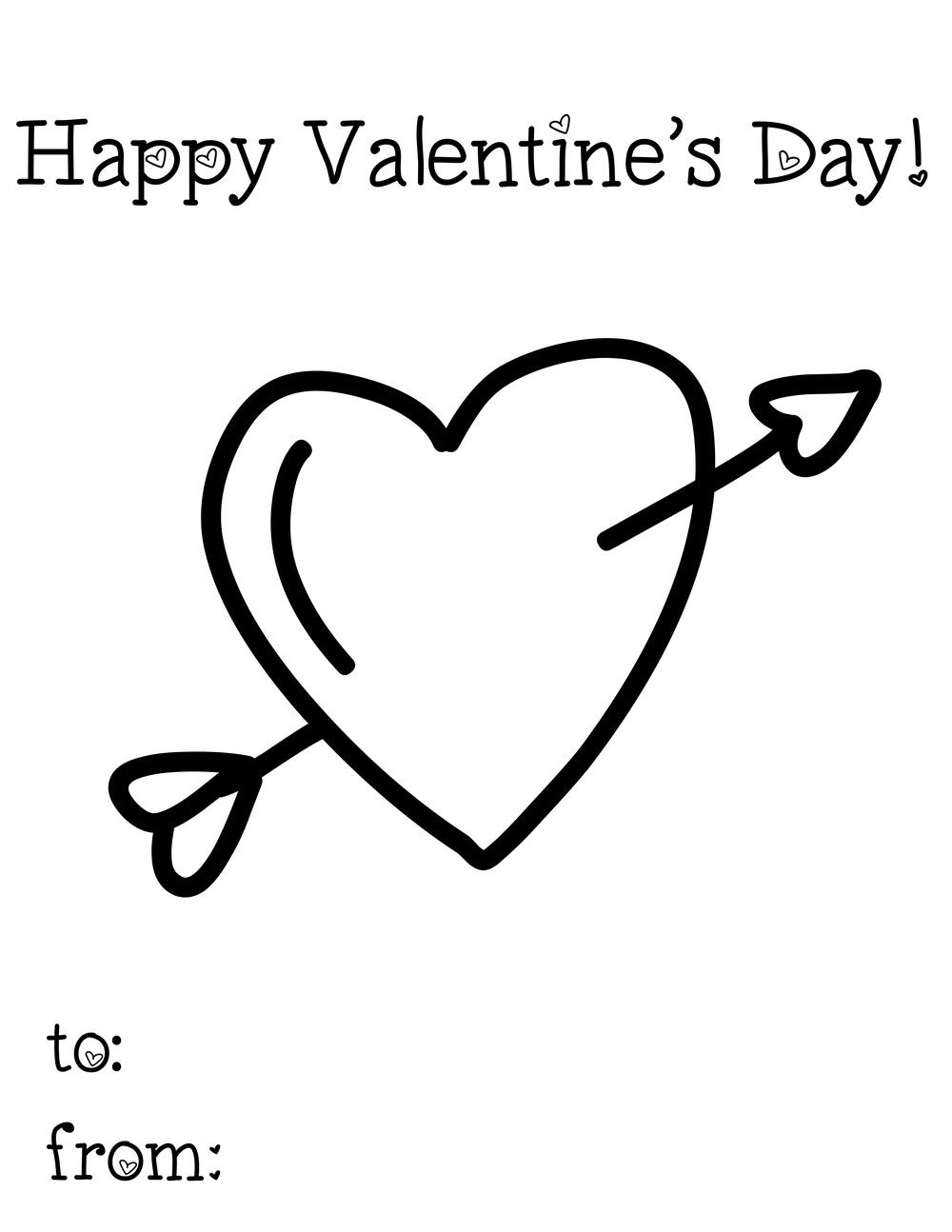 Printable Heart Valentine Day Card