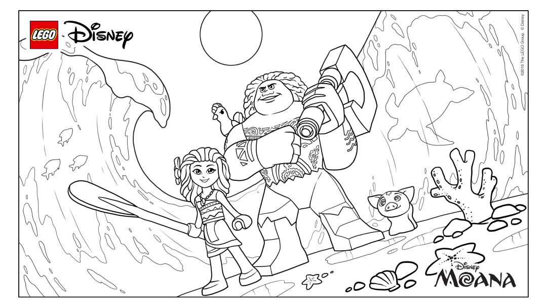 Printable Lego Moana Coloring Pages