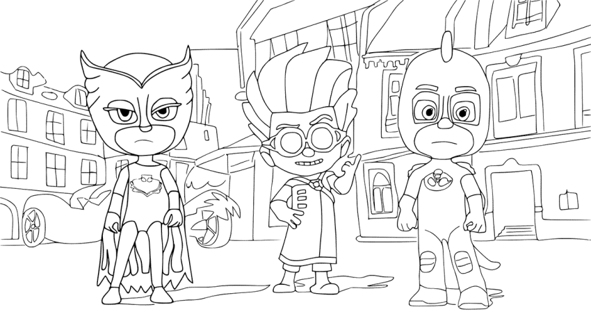 picture about Printable Pj Masks Coloring Pages identified as PJ Masks Coloring Internet pages coloring.rocks!