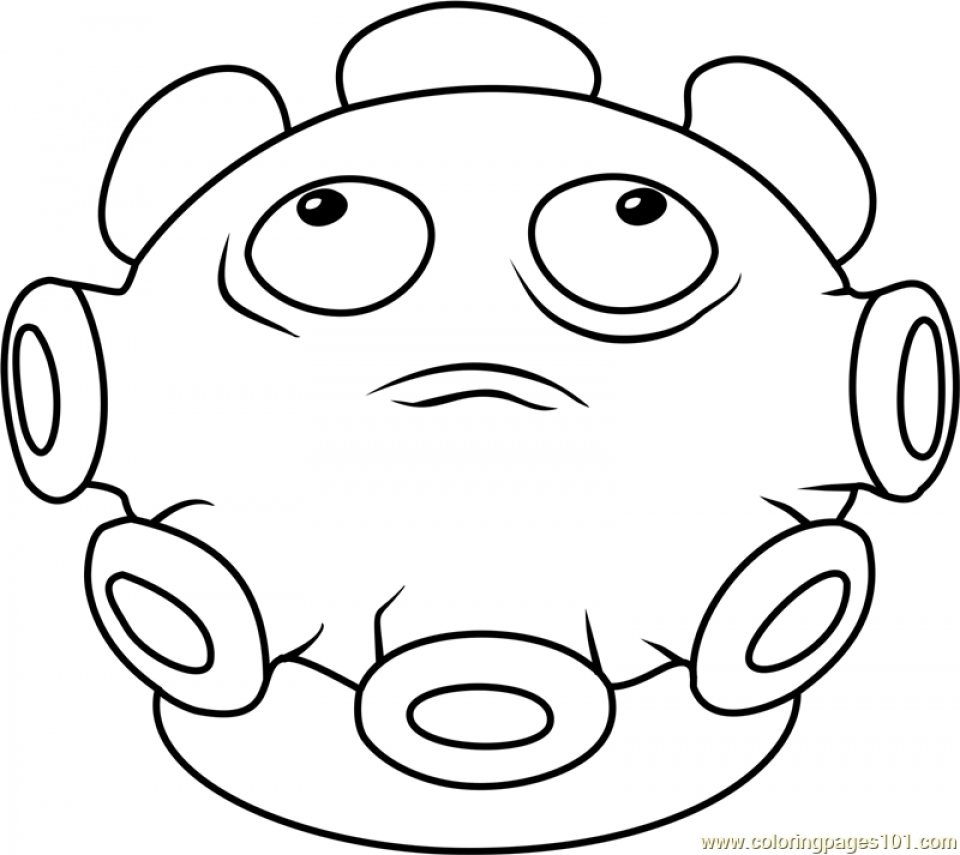 Plants Vs Zombies Coloring Pages Coloring Rocks