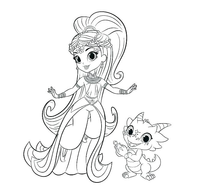 Printable Shimmer and Shine Nazboo to Color