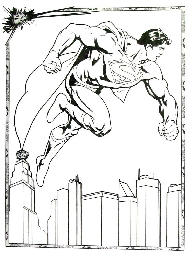 Printable Superman Coloring Page