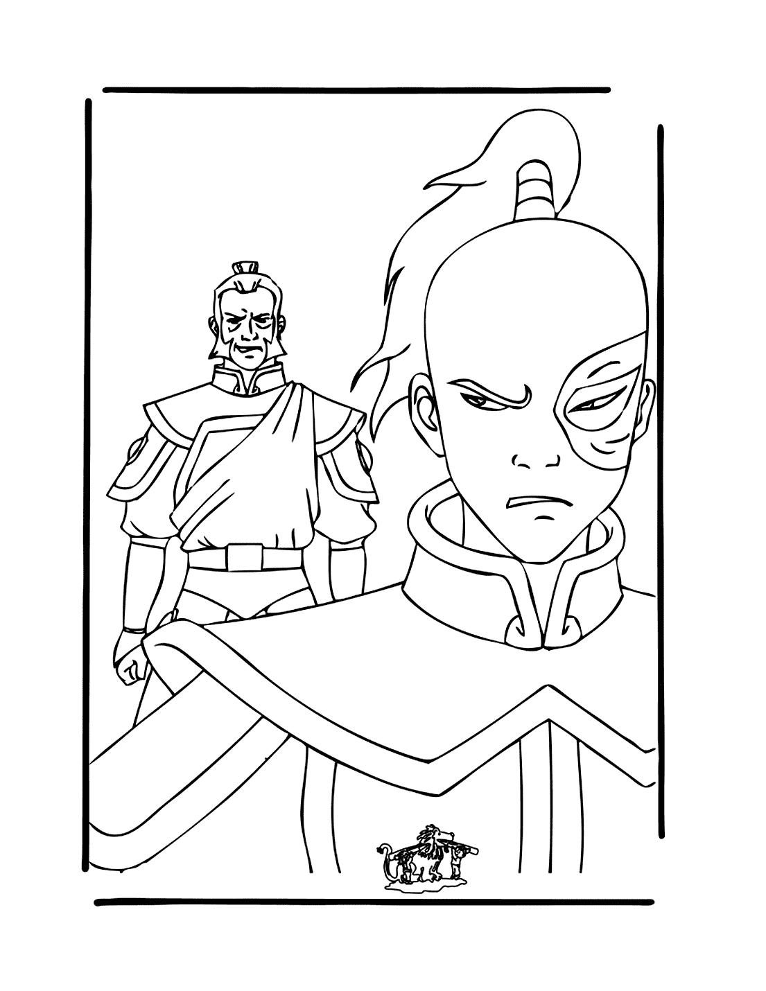 Prinze Zuko Avatar Coloring Page