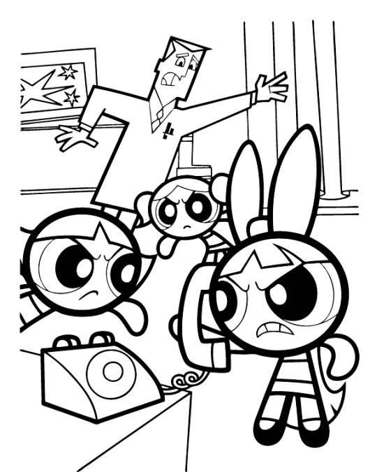 Powerpuff Girls Coloring Pages Coloring Rocks