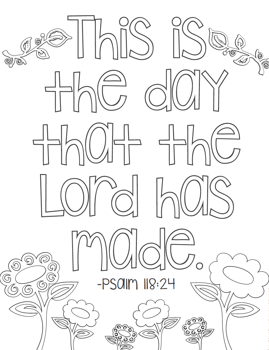 Psalm Phrase - Bible Coloring Pages