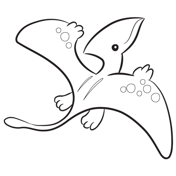 Pterodactyl Baby Coloring Page