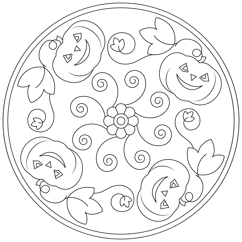Pumpkin Mandala for Kids