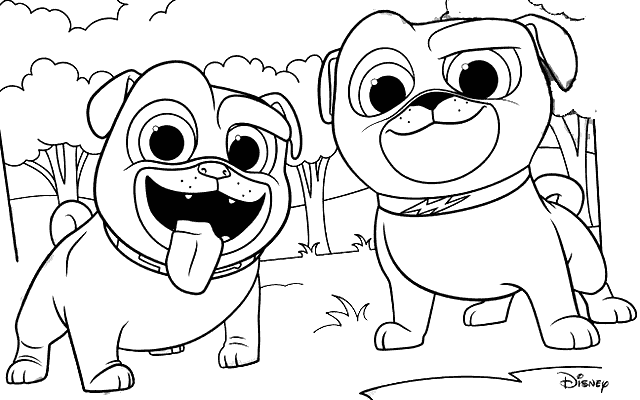 Puppy Dog Pals Coloring Pages Rolly Coloring Rocks