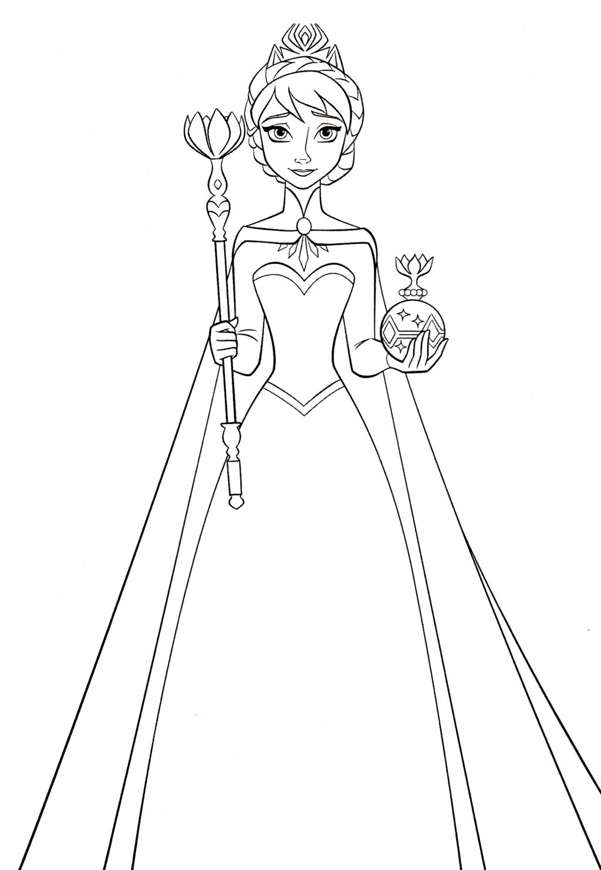 Queen Elsa Coloring Pages