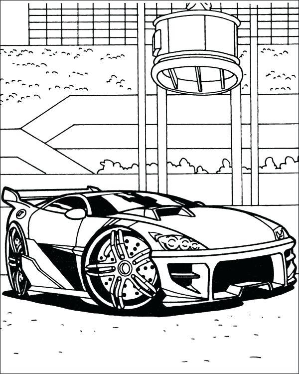 Race Car Coloring Free Printable