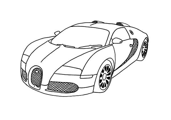 Race Car Coloring Pages - BMW