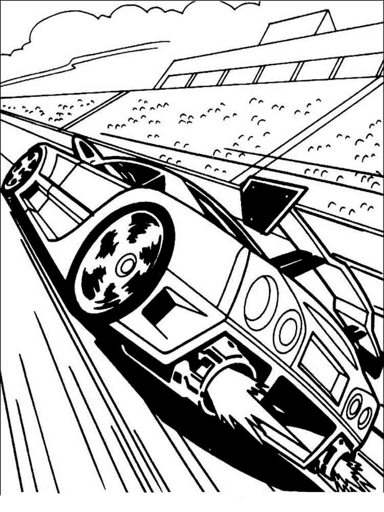 Race Cars Coloring Page