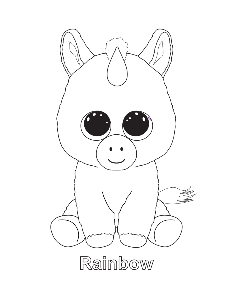 Beanie Boo Coloring Pages Coloring Rocks